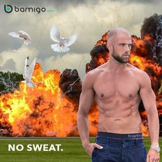 Cool guys don't look at explosions. And Bamigo guys also stay fresh... Stay cool, No SWEAT. #bamigo #nosweat #cool #guys #stay #fresh #underwear #mensunderwear