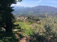 The view down to the village in early summer (Castiglione Garfagnana)