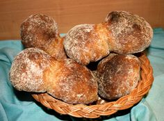 Buerli (A Baker's Tour) Thick Crusted Peasant Rolls. Uses wheat flour. From Switzerland