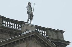 Statue of Neptune (Poseidon) atop Lyme Park