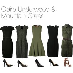 Claire Underwood & Mountain Green by oliviapope411 on Polyvore featuring Fendi, Prabal Gurung, Tory Burch, Dsquared2, Martin Grant, Bally, Dune and Dolce Vita