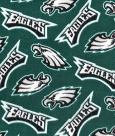Philadelphia Eagles Fleece Fabric | onlinefabricstore.net