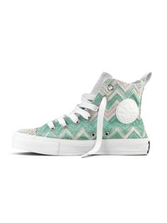 missoni and converse all star shoe