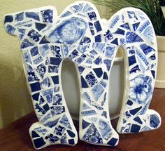 Shabby Mosaic Letter M by TheMosaicArtStore on Etsy, $18.00