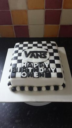 Vans Shoes Checkerboard Birthday Cake Cakes In 2019