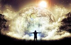 A spiritual experience of a man with arms open to the heavens and earth. New Earth, Rise Above, Spiritual Awakening, Spiritual Path, Spiritual Growth, Law Of Attraction, Reiki, Mystic, Affirmations