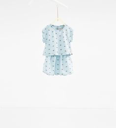 Image 1 of Bow print dress from Zara