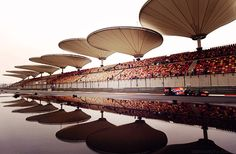 Shelter from the sun (Chinese GP).
