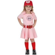 bfab17210c273 Google Express - Toddler A League of Their Own Dottie Costume T1167548  Baseball Costumes, Baseball