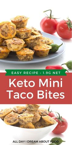 Easy keto appetizer! These fun low carb mini muffins make a great healthy, appetizer, snack, or even dinner. Dip them in your favourite low carb salsa Low Carb Chicken Recipes, Healthy Low Carb Recipes, Healthy Appetizers, Keto Snacks, Healthy Dinner Recipes, Keto Recipes, Keto Foods, Keto Chicken, Health Foods