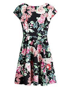 Floral Skater Dress | Simply Be