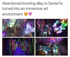 Abandoned bowling alley in Santa Fe turned into an immersive art environment ': º - iFunny :) Oh The Places You'll Go, Cool Places To Visit, Places To Travel, Travel List, Travel Goals, And So It Begins, All Nature, I Want To Travel, Vacation Spots