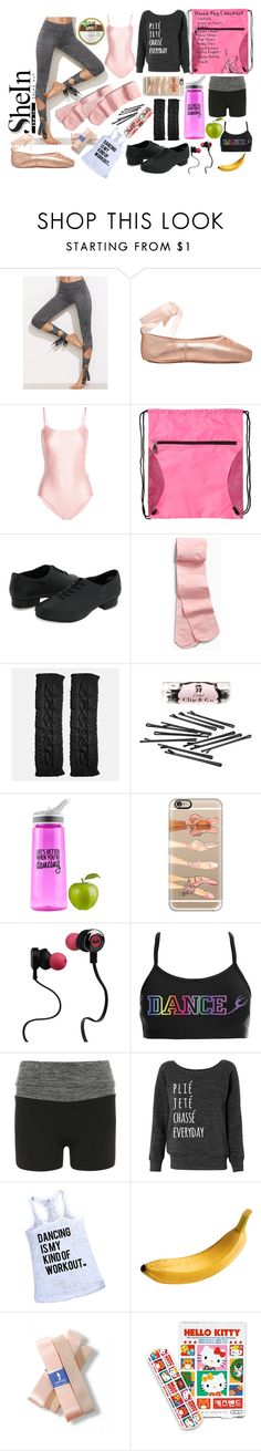 """What's in Your Dance Bag?"" by jennziegirl ❤ liked on Polyvore featuring Ballet Beautiful, Avenue, L. Erickson, Casetify, Monster, Dorothy Perkins and Hello Kitty"