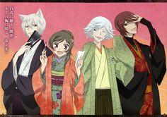 Kami-sama Hajimemashita, Nanami, Tomoe, Mizuki, Kurama