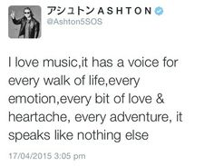The Ashton Irwin quote of the day.