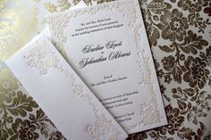 Victorian Steampunk Wedding Inspiration on wedding dress, steampunk wedding invitations, steampunk wedding decoration and steampunk wedding favor ideas. Letterpress Wedding Invitations, Invites, Invitation Ideas, Steampunk Wedding Dress, Traditional Wedding Invitations, Card Envelopes, Response Cards, Wedding Cards, Wedding Bells