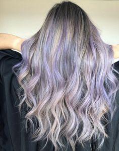 lavender hair highlights 2020 - Latest Hairstyles for Women - Lilac Hair Light Purple Hair, Bright Red Hair, Dark Red Hair, Dark Blonde Hair, Hair Color Purple, Burgundy Hair, Blonde Hair With Purple Tips, Lavender Hair Colors, Brown Hair