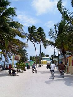 The best of our honeymoon spots...we will go back ons day! Main street, caye caulker