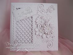 Pure White thank you card by Christina Griffiths