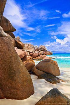 Stones on tropical beach