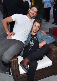 "Dylan Sprayberry & Tyler Posey at the premiere of MTV And Dimension TV's ""Scream"" at Regal Cinemas L.A. Live on June 14, 2015 in Los Angeles, California."