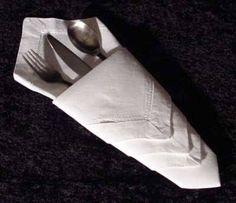 ¿Como doblar las servilletas para una cena elegante en casa - Taringa!