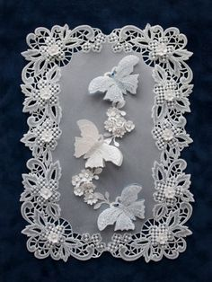 Wedding Card Idea - All essential products for this project can be found on… Vellum Crafts, Vellum Paper, Paper Cards, Paper Lace, Paper Flowers, Wedding Anniversary Cards, Wedding Cards, Parchment Design, Parchment Cards