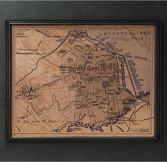 Circa 1894 Buenos Aires Map