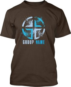 splatter cross youth group t shirt design