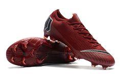 sports shoes a371e dbe28 Nike Mercurial Vapor 12 Elite FG Man Boots - Red Black