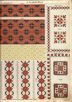Folk Embroidery, Learn Embroidery, Cross Stitch Embroidery, Embroidery Patterns, Cross Stitch Patterns, Embroidery Techniques, Beading Patterns, Hama Beads, Bohemian Rug