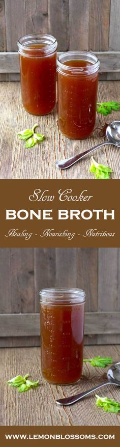 This Slow Cooker Beef Bone Broth is loaded with flavor and nutrients. This Slow Cooker Beef Bone Broth is loaded with flavor and nutrients. Great for sipping or as a base for soups, stews, sauces and to use as a cooking liquid. Slow Cooker Bone Broth, Beef Bone Broth, Crock Pot Slow Cooker, Slow Cooker Recipes, Crockpot Recipes, Soup Recipes, Cooking Recipes, Bone Broth Crockpot, Soup Broth