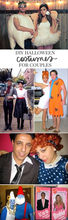DIY Halloween Costume Ideas for Couples #tutorial #couple #costumes