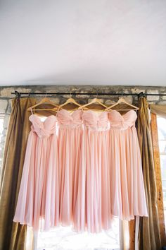 Pink bridesmaids dresses | photo by Sarah Q Photography | 100 Layer Cake