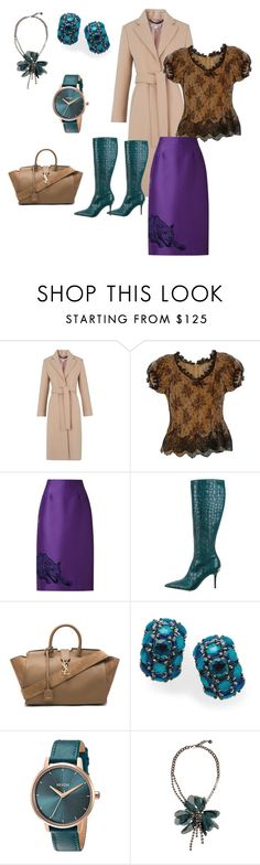 """beige"" by anna-esenova on Polyvore featuring moda, Whistles, Alexander McQueen, STELLA McCARTNEY, Alessandro Dell'Acqua, Yves Saint Laurent, Ippolita, Nixon e Lanvin"