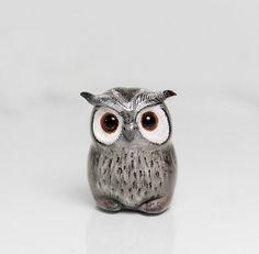 Owl+Figurine+OOAK+Handmade+Polymer+Clay+by+RamalamaCreatures