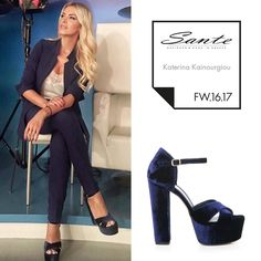 Katerina Kainourgiou (@katken85) in SANTE Sandals styling by Georgia Pantele (@gpantele) #SanteFW1617 #CelebritiesinSante Available in stores & online (SKU-94401): www.santeshoes.com