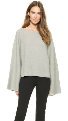 Donna Karan New York Easy Cropped Sweater