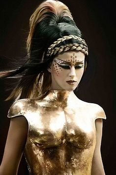 londonwarrior:    Gold Armour, ready for battle - Warrior Fashion