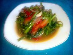 sauteed kale with shrimp paste (Aceh : Tumis oen rumpun ngen terasi )