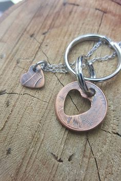 Couples Penny set Lucky Penny Keychain Lucky charm by patsdesign