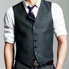 Men's Wear - Gray vest