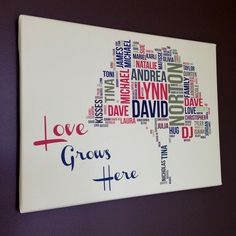 28X28 Floating Frame Canvas Word Art Home Decor, beautiful and ...