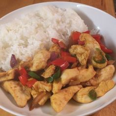 Try this really easy super tasty ginger and chilli chicken with jasmine rice. The perfect post workout refuel meal  That's how you get #Leanin15