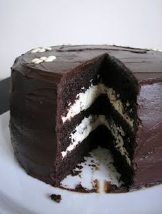 Chocolate cake with vanilla buttercream filling