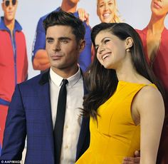 Just friends! On Thursday night, Zac Efron (left) and Alexandra Daddario (right) attended the Australian premiere of Baywatch in Sydney - after he dismissed rumours they were dating