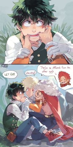 """Cheeseフリッツ on Twitter: """"Bakugou spent most of his life among weird dragon people w sharp jagged teeth... https://t.co/1KncMLQaxu"""""""
