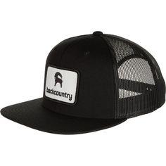 4f2a032be0e Backcountry - Flat Brim Patch Trucker Hat - Men's - Black/Black Truck Caps,