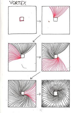 Tangle Pattern-Vortex by molossus, who says Life Imitates Doodles, via Flickr