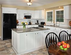Beautiful kitchen makeover on a budget! For more pictures and money saving tips, click on picture. www.kitchenmagic.com